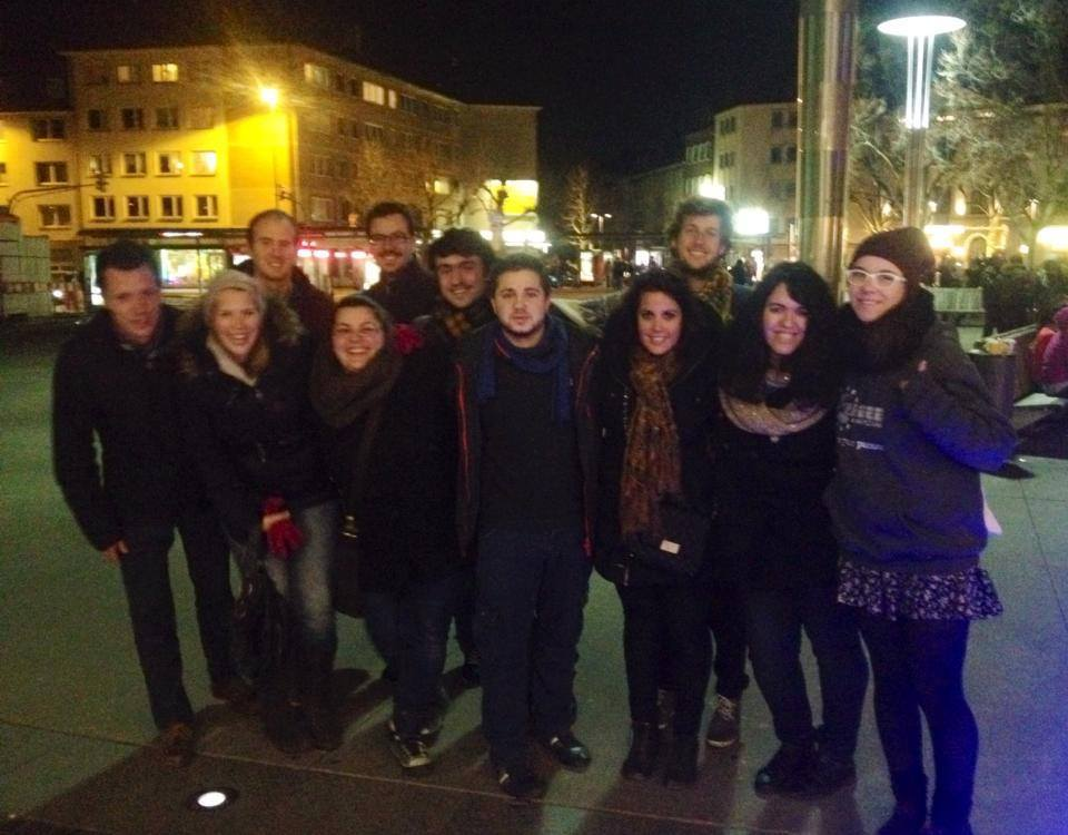 The members of the Election Observation Project all together in Köln