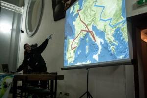 Benjamin explaining the map