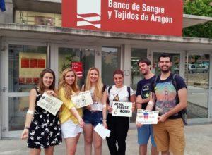 AEGEE Zaragoza donating blood