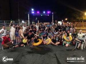 #AlicanteOnFire group party picture