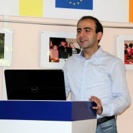 Policy Officer on European Integration, Armenak Minasyants, encouraging AEGEEans to act for Ukraine