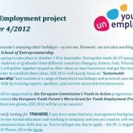 Youth UnEmployment Newsletter 4