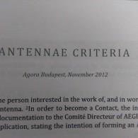 Proposals for Dummies 4: Antennae Criteria and Statutes