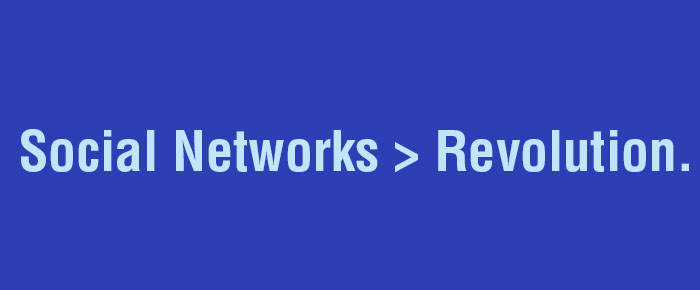 the role of social networks in revolutions essay We use it for every part of our lives – in our personal relationships, for  entertainment, at work and in our studies to put it into some context,.