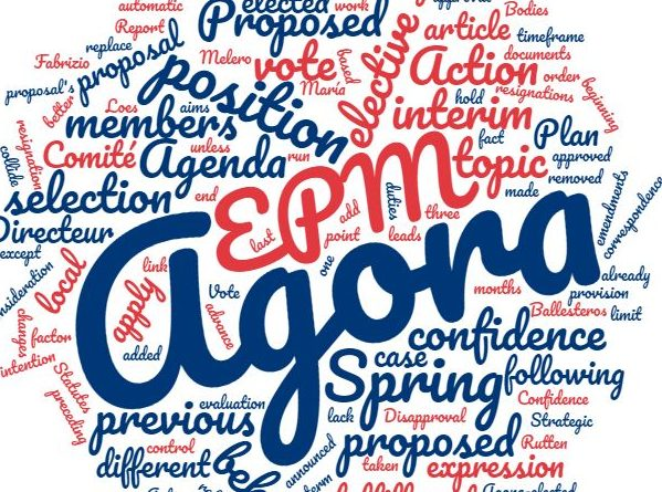 PROPOSALS #1: EPM Topic Selection at Spring Agora, On Resignation of Members from Elected European Bodies, Vote of Confidence and Comité Directeur
